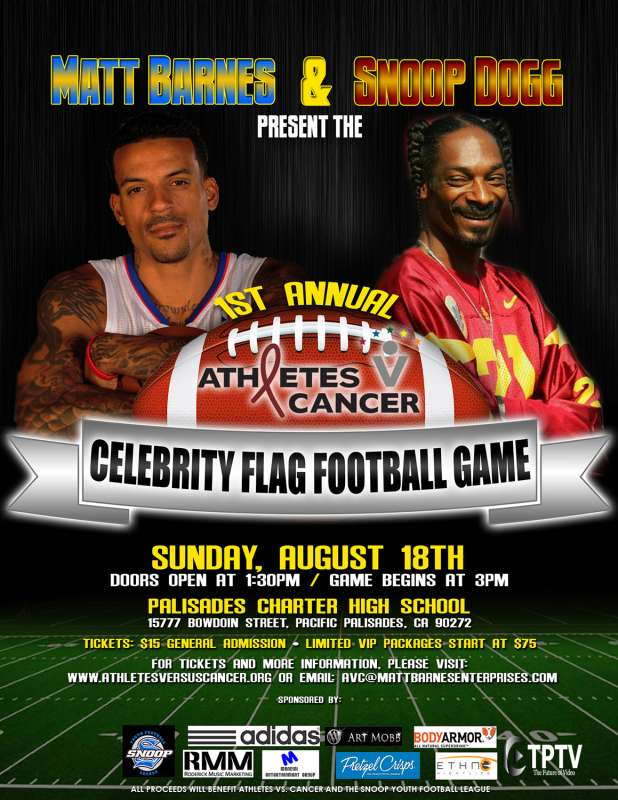 Snoop Dogg And Matt Barnes Play Some Football Mike Madriagamike
