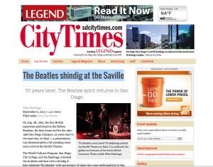 Mike Madriaga's story on The Bajabugs live in the City Times Newspaper
